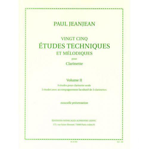 LEDUC JEANJEAN PAUL - 25 ETUDES TECHNIQUES ET MELODIQUES VOL.2