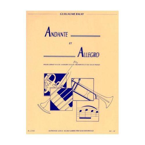 LEDUC BALAY G. - ANDANTE ET ALLEGRO - TROMPETTE ET PIANO