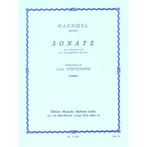 LEDUC HANDEL G.F. - SONATE OP.8 N°1 - CLARINETTE & PIANO