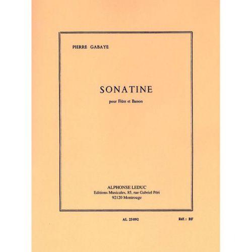 LEDUC GABAYE PIERRE - SONATINE - FLUTE, BASSON