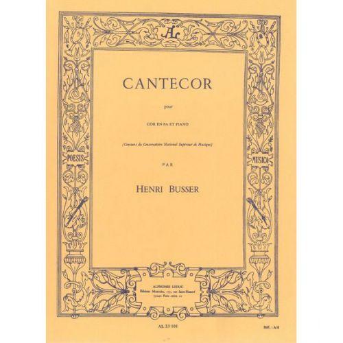 LEDUC BUSSER HENRI - CANTECOR - COR & PIANO