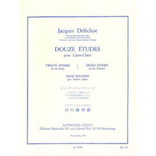 LEDUC DELECLUSE JACQUES - 12 ETUDES POUR CAISSE-CLAIRE