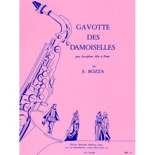 LEDUC BOZZA E. - GAVOTTE DES DEMOISELLES - SAXOPHONE MIb ET PIANO