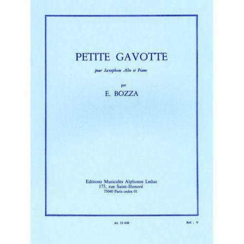 LEDUC BOZZA EUGENE - PETITE GAVOTTE - SAXOPHONE & PIANO