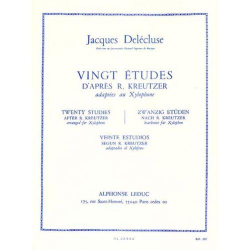 LEDUC DELECLUSE JACQUES - 20 ETUDES D'APRES KREUTZER - XYLOPHONE