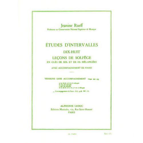 LEDUC RUEFF J. - ETUDES D INTERVALLES