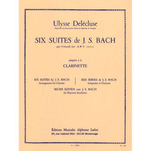 LEDUC BACH J.S. - 6 SUITES POUR VIOLONCELLE BWV 1007/12 - CLARINETTE