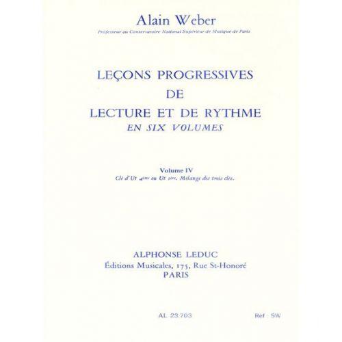 LEDUC WEBER A. - LEÇONS PROGRESSIVES DE LECTURE ET DE RYTHME VOL.4