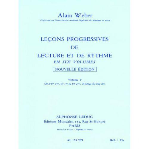 LEDUC WEBER A. - LEÇONS PROGRESSIVES LECTURE ET RYTHME VOL.5