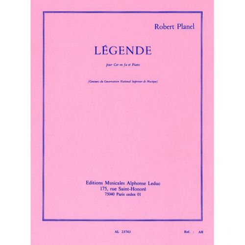 LEDUC PLANEL ROBERT - LEGENDE - COR & PIANO