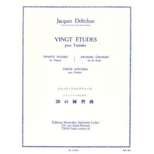 LEDUC DELECLUSE JACQUES - 20 ETUDES - TIMBALES