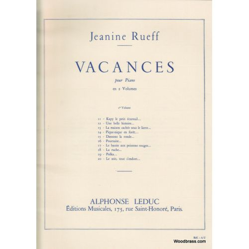 LEDUC RUEFF JEANINE - VACANCES VOL.2 - PIANO
