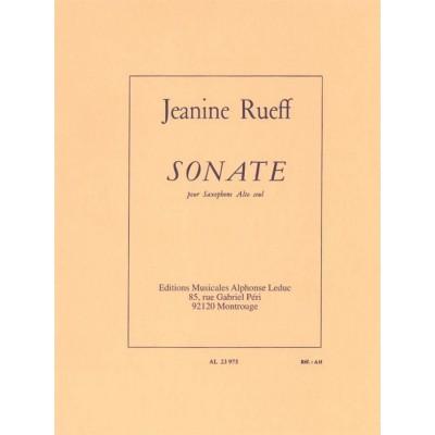 LEDUC RUEFF JEANINE - SONATE POUR SAXOPHONE SEUL