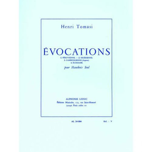 LEDUC TOMASI HENRI - EVOCATIONS - HAUTBOIS