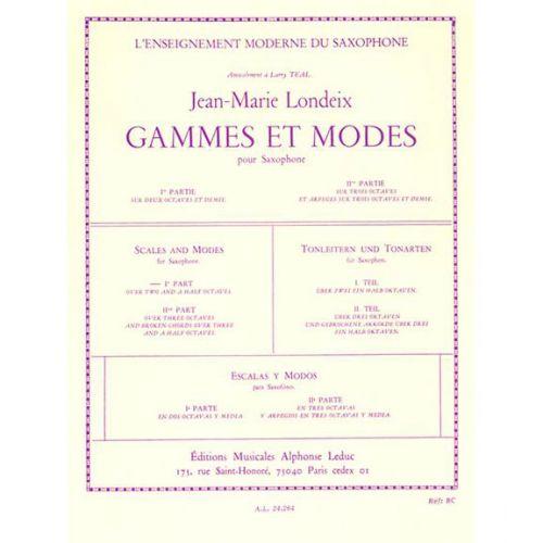 LEDUC LONDEIX J.M. - GAMMES ET MODES - SAXOPHONE SOLO