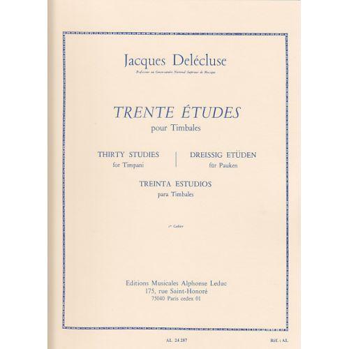 LEDUC DELECLUSE JACQUES - TRENTE ETUDES POUR TIMBALES CAHIER 1