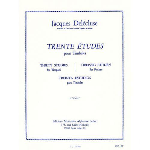 LEDUC DELECLUSE JACQUES - TRENTE ETUDES POUR TIMBALES CAHIER 2