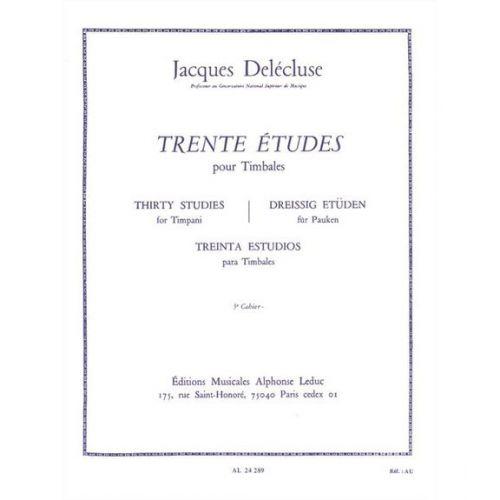 LEDUC DELECLUSE J. - 30 ETUDES VOL.3 - TIMBALES