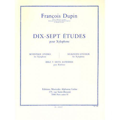 LEDUC DUPIN F. - 17 ETUDES - XYLOPHONE