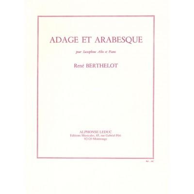 LEDUC BERTHELOT RENE - ADAGE ET ARABESQUE - SAXOPHONE & PIANO