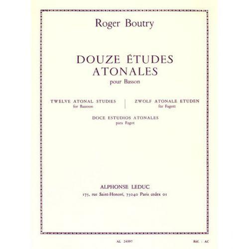 LEDUC BOUTRY ROGER - 12 ETUDES ATONALES POUR BASSON