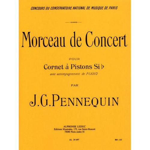 LEDUC PENNEQUIN J.G. - MORCEAU DE CONCERT - CORNET A PISTONS SIb & PIANO
