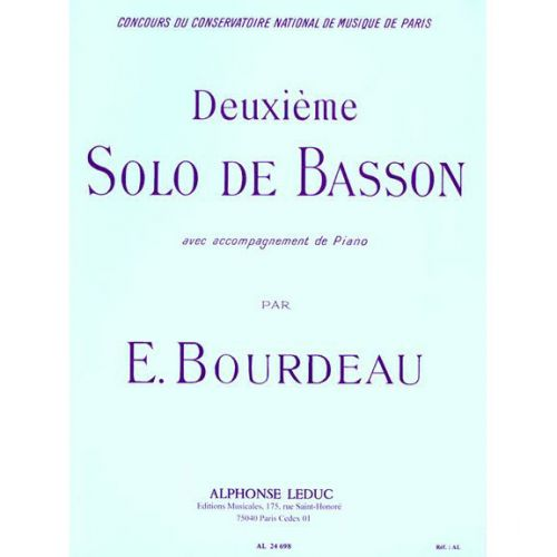 LEDUC BOURDEAU - SOLO N° 2 - BASSON ET PIANO