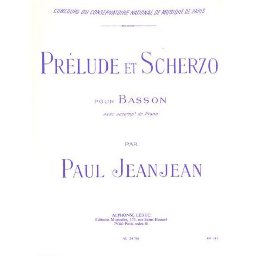 LEDUC JEANJEAN - PRELUDE ET SCHERZO - BASSON ET PIANO