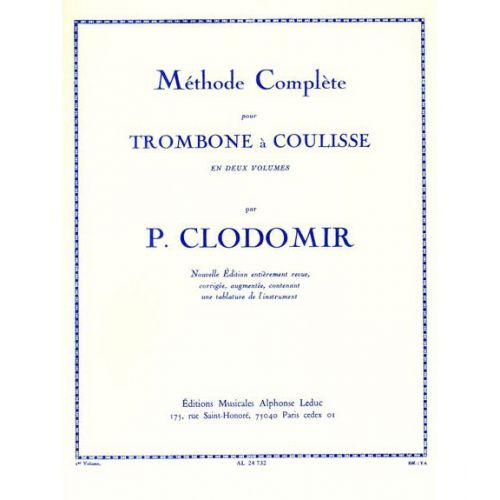 LEDUC CLODOMIR P. F. - METHODE DE TROMBONE A COULISSE VOL.1