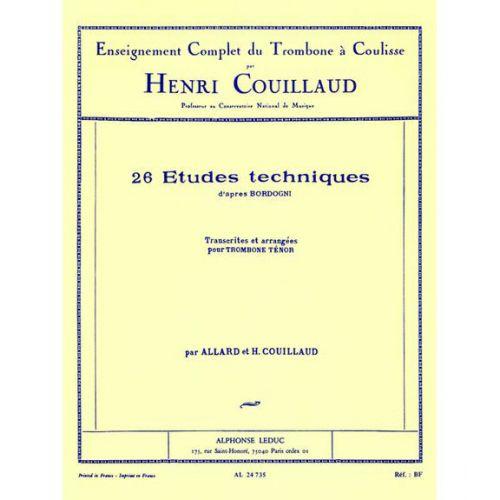 LEDUC COUILLAUD HENRI - 26 ETUDES TECHNIQUES D'APRES BORDOGNI