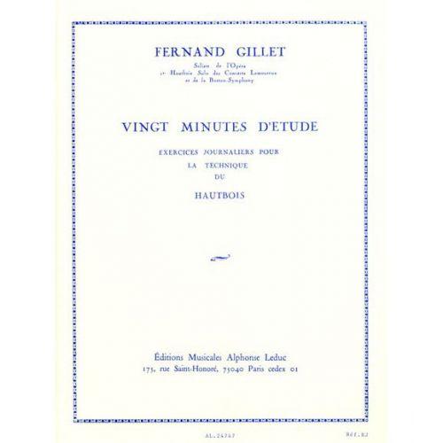 LEDUC GILLET - 20 MINUTES D'ETUDE - HAUTBOIS