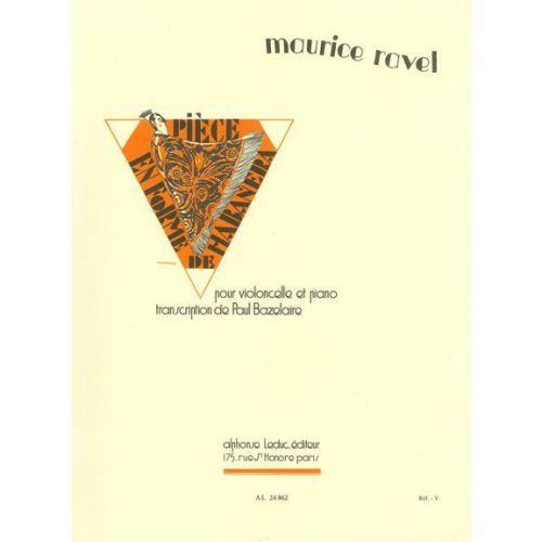 LEDUC RAVEL MAURICE - PIECE EN FORME DE HABANERA - HAUTBOIS ET PIANO