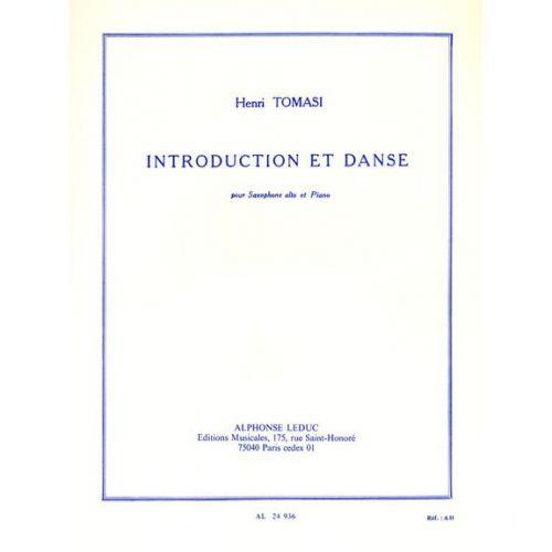 LEDUC TOMASI HENRI - INTRODUCTION ET DANSE - SAX ALTO / PIANO