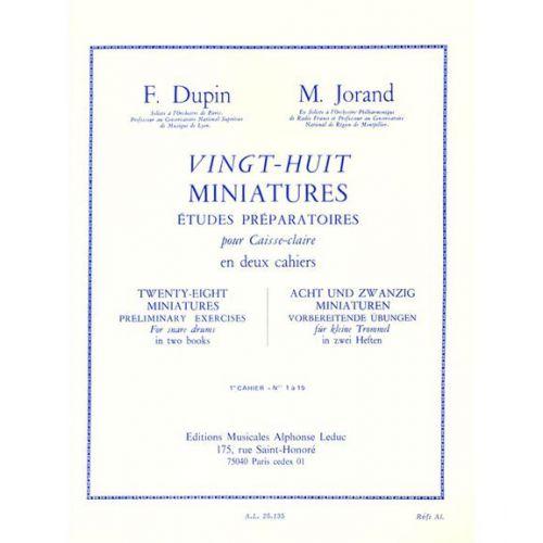 LEDUC DUPIN F., JORAND M. - 28 MINIATURES VOL. 2 - CAISSE CLAIRE