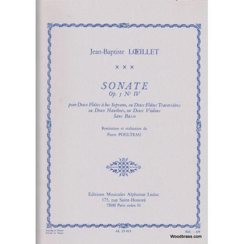 LEDUC LOEILLET J.B. - SONATE OP.5 N°IV - 2 FLB SOPRANO