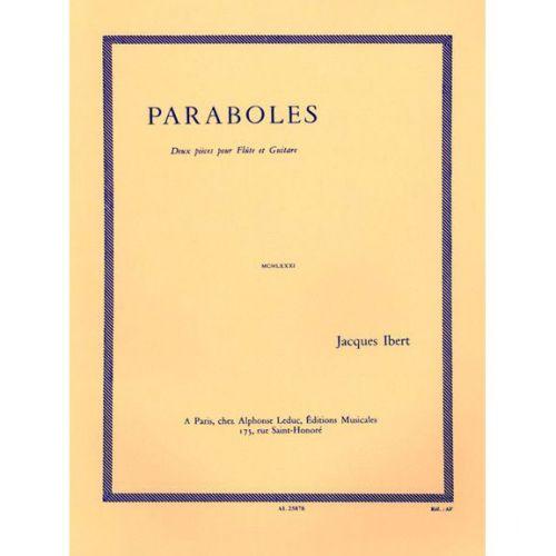 BILLAUDOT IBERT J. - PARABOLES - FLÛTE ET GUITARE