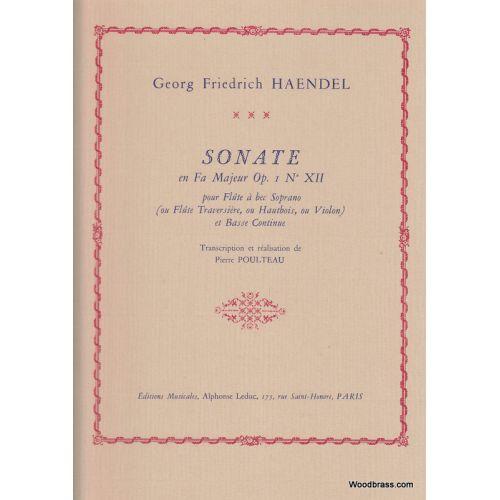 LEDUC HAENDEL G.F. - SONATE EN FA MAJEUR OP.1 N°XII
