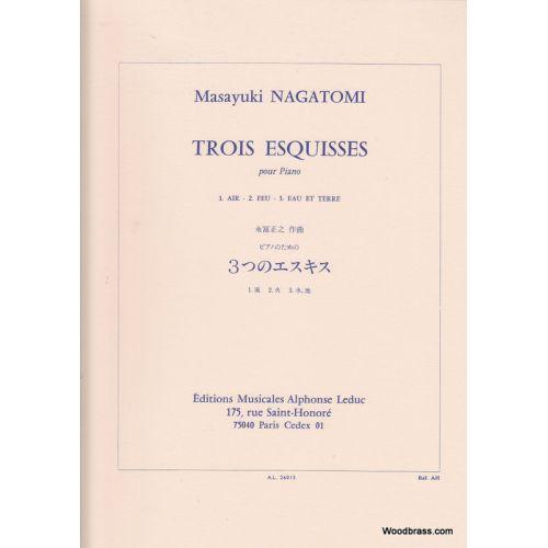 LEDUC NAGATOMI MASAYUKI - TROIS ESQUISSES POUR PIANO