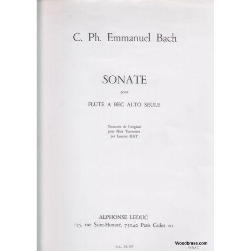 LEDUC BACH C.P.E. - SONATE POUR FLUTE A BEC ALTO SEULE