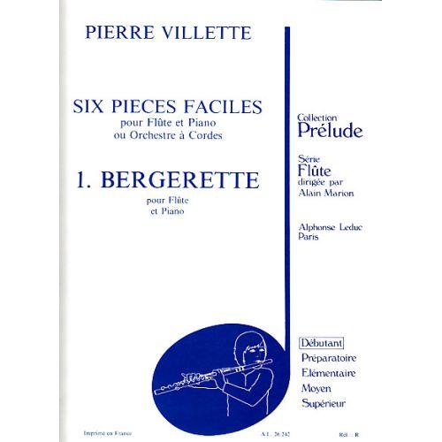 LEDUC VILLETTE P. - 6 PIECES FACILES (N° 1) - FLUTE ET PIANO