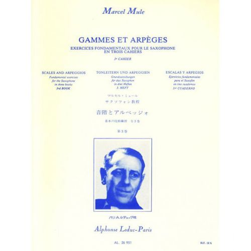 LEDUC MULE M. - GAMMES ET ARPEGES VOL.3 - SAXOPHONE