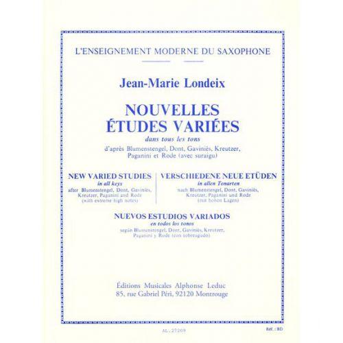 LEDUC LONDEIX J.M. - NOUVELLES ETUDES VARIEES DANS TOUS LES TONS - SAXOPHONE
