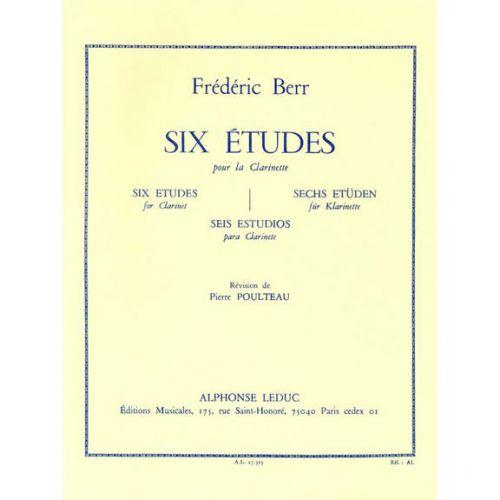 LEDUC BERR FREDERIC - SIX ETUDES POUR CLARINETTE