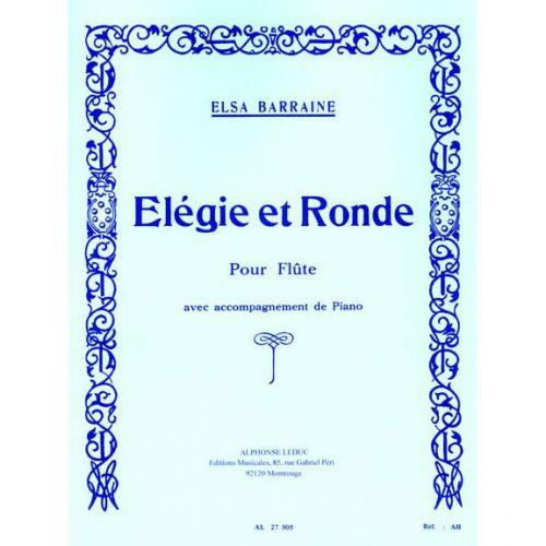 LEDUC BARRAINE ELSA - ELEGIE ET RONDE - FLUTE & PIANO