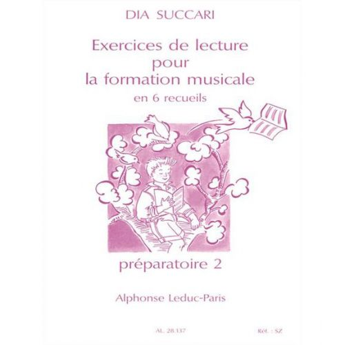 LEDUC SUCCARI DIA - EXERCICES DE LECTURE POUR LA FORMATION MUSICALE (PREPARATOIRE 2)
