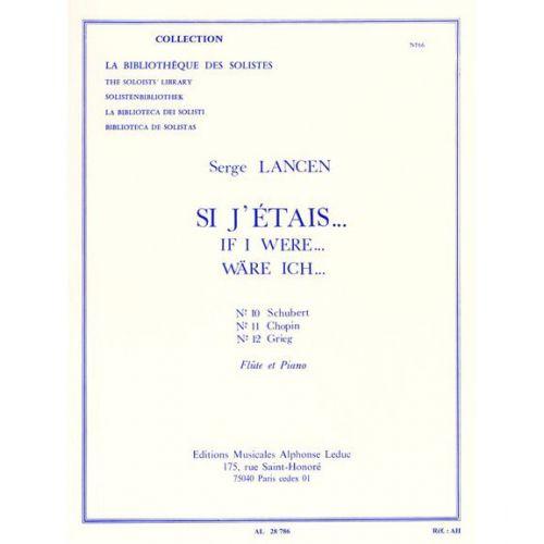 LEDUC LANCEN S. - SI J'ETAIS - FLUTE ET PIANO