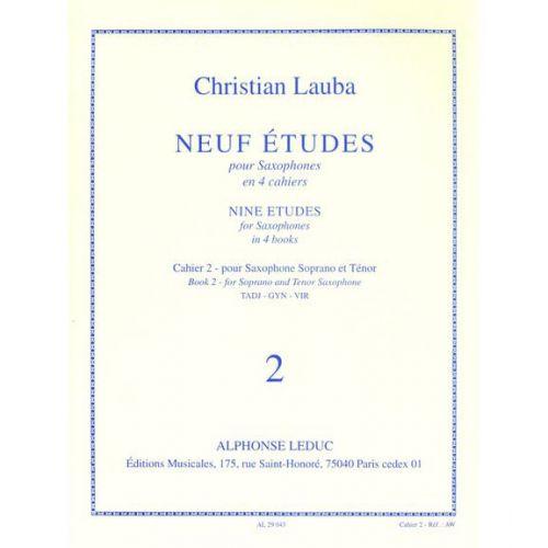 LEDUC LAUBA CHRISTIAN - NEUF ETUDES POUR SAXOPHONE - CAHIER 2