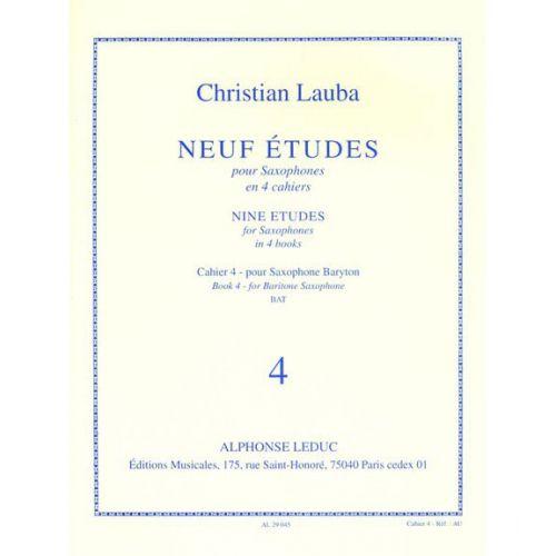 LEDUC LAUBA CHRISTIAN - NEUF ETUDES POUR SAXOPHONE - CAHIER 4