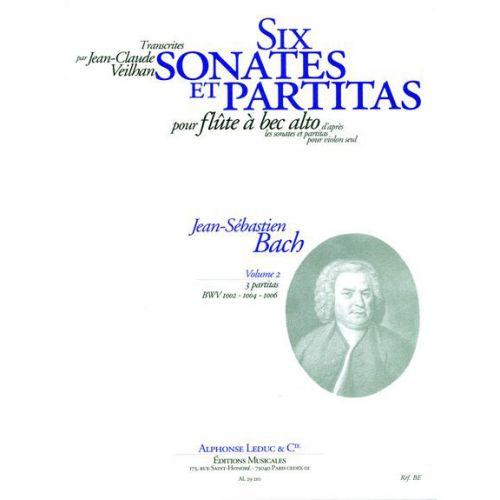LEDUC BACH JS / VEILHAN - 6 SONATES ET PARTITAS VOL.2 - FLB ALTO