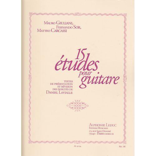 LEDUC GIULIANI, SOR, CARCASSI - 15 ETUDES POUR GUITARE